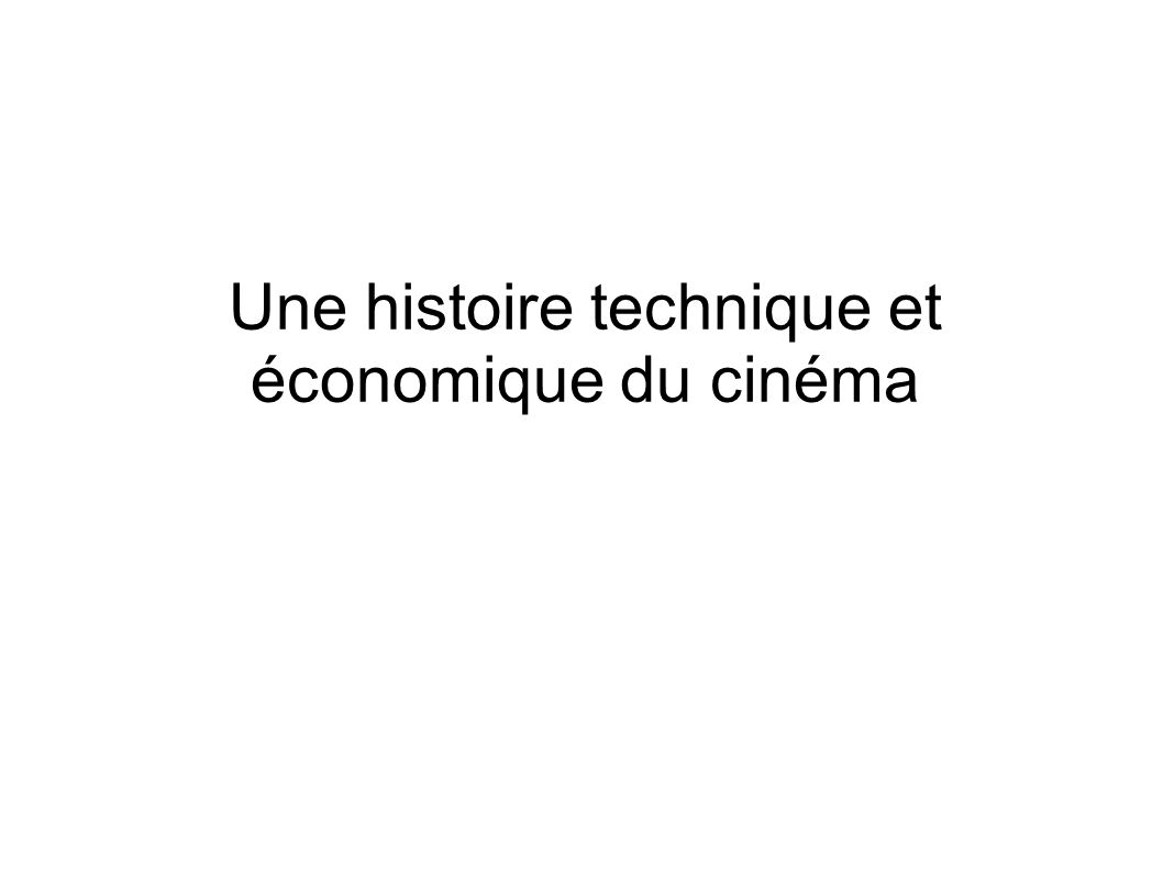 L avènement du cinéma parlant