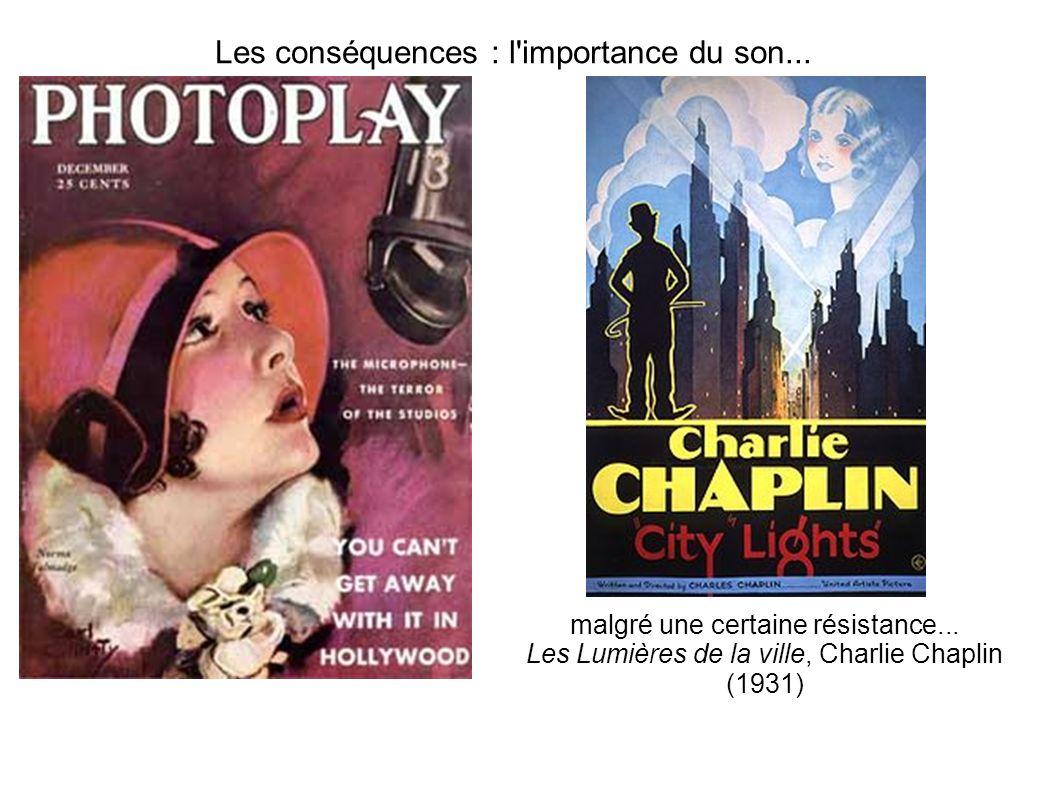 Les conséquences : l'importance du son... malgré une certaine résistance... Les Lumières de la ville, Charlie Chaplin (1931)