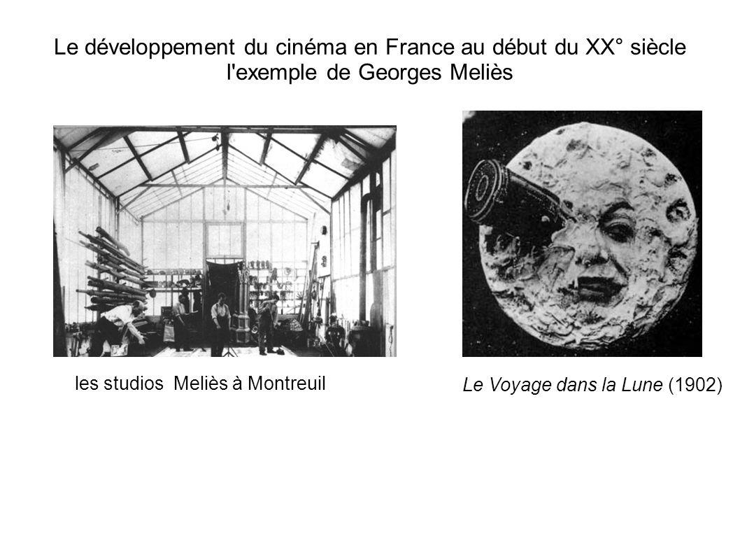 Le développement du cinéma en France au début du XX° siècle l'exemple de Georges Meliès les studios Meliès à Montreuil Le Voyage dans la Lune (1902)