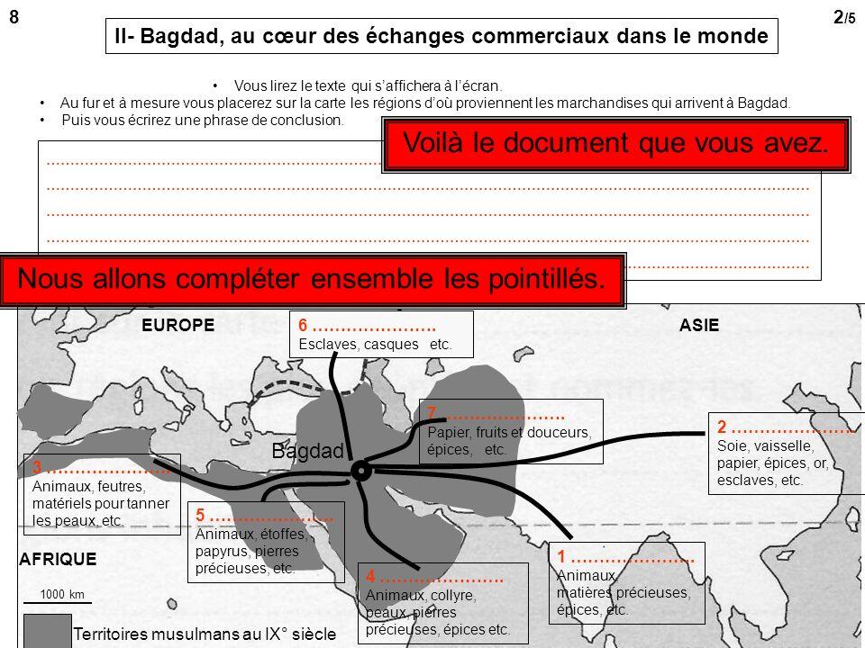 Bagdad II A travers un témoignage et des illustrations II- Au cœur des échanges commerciaux mondiaux 7