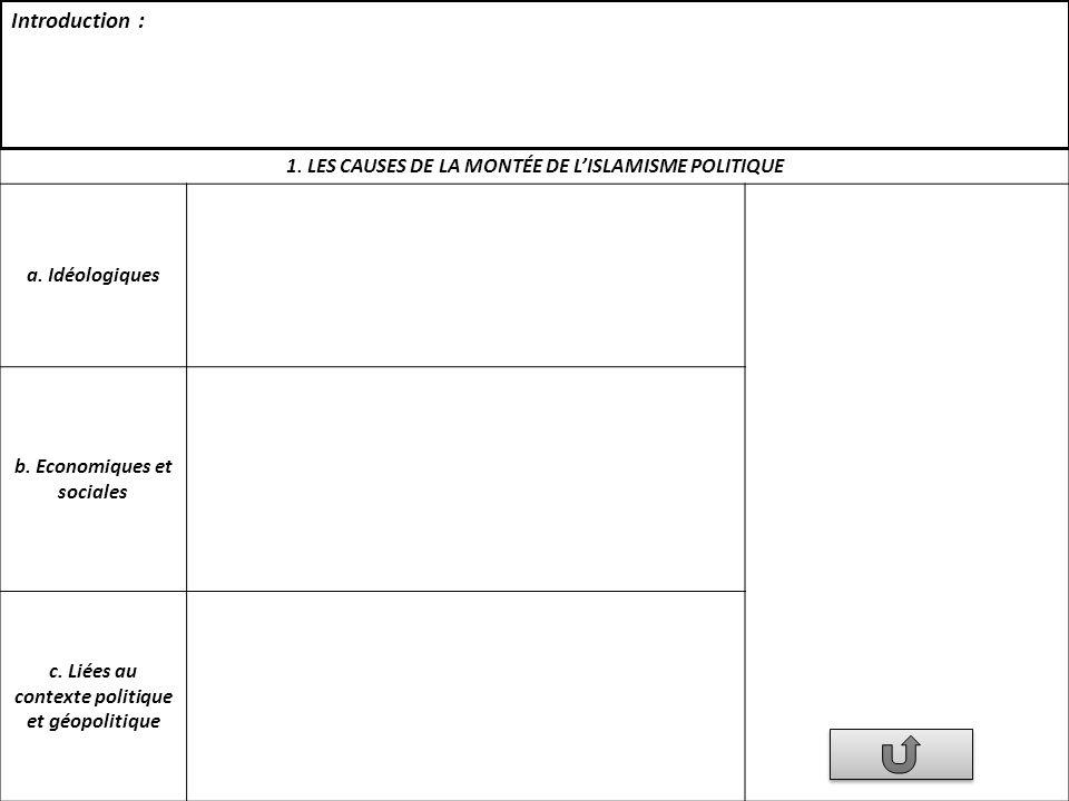 2.LES MANIFESTATIONS CONCRÈTES DE LAFFIRMATION DE LISLAMISME POLITIQUE a.