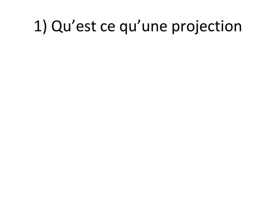 1) Quest ce quune projection