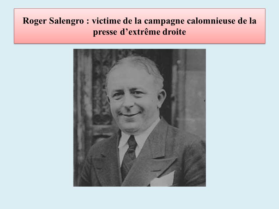 Roger Salengro : victime de la campagne calomnieuse de la presse dextrême droite