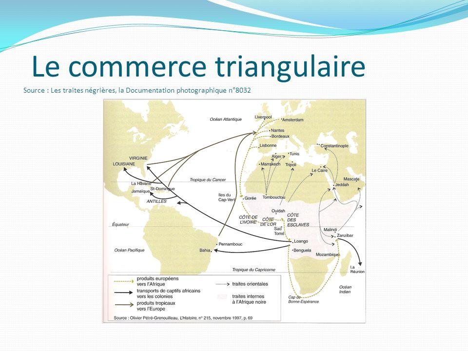 Le commerce triangulaire Source : Les traites négrières, la Documentation photographique n°8032
