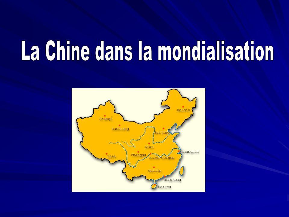 Introduction I – La Chine: un pays émergent intégré dans les circuits de la mondialisation II – Lintégration dans la mondialisation : une trajectoire fragile III – Laffirmation dune nouvelle puissance dans un monde multipolaire