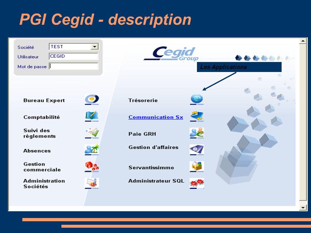 PGI Cegid - description Les Applications