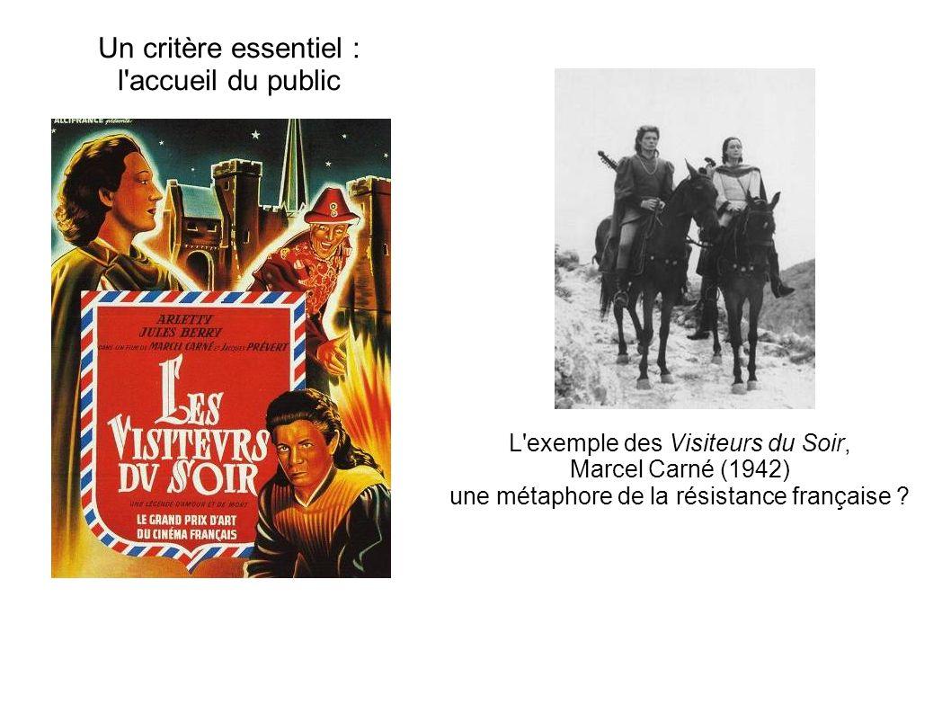 Un critère essentiel : l'accueil du public L'exemple des Visiteurs du Soir, Marcel Carné (1942) une métaphore de la résistance française ?