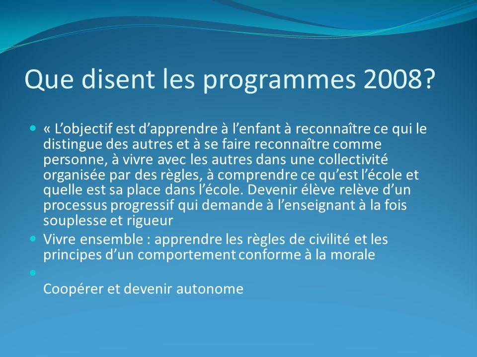Que disent les programmes 2008.