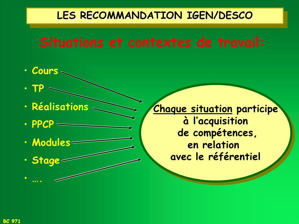 BC 971 1 - LE MÉTIER 1 - LE MÉTIER 2 - LA FORMATION 2 - LA FORMATION La démarche délaboration du référentiel Pédagogie de la discipline Enseignements
