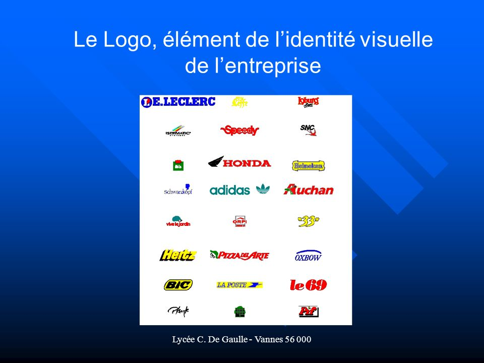 Lycée C. De Gaulle - Vannes 56 000 Le Logo, élément de lidentité visuelle de lentreprise
