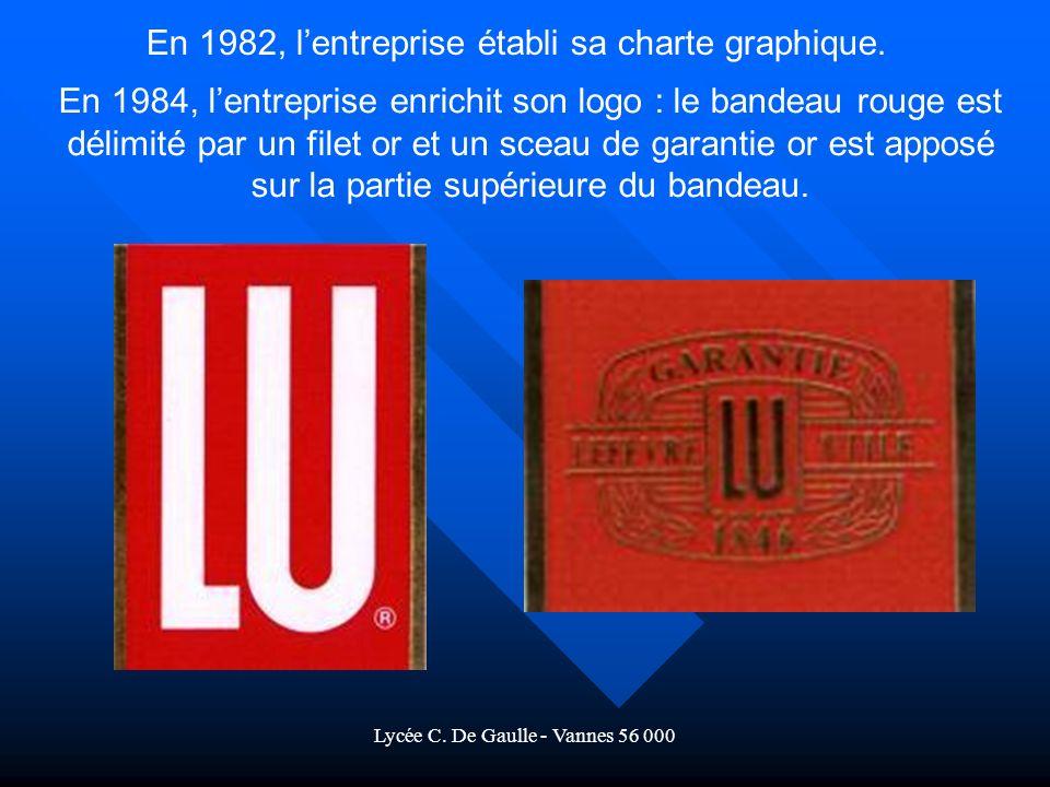 Lycée C.De Gaulle - Vannes 56 000 En 1982, lentreprise établi sa charte graphique.