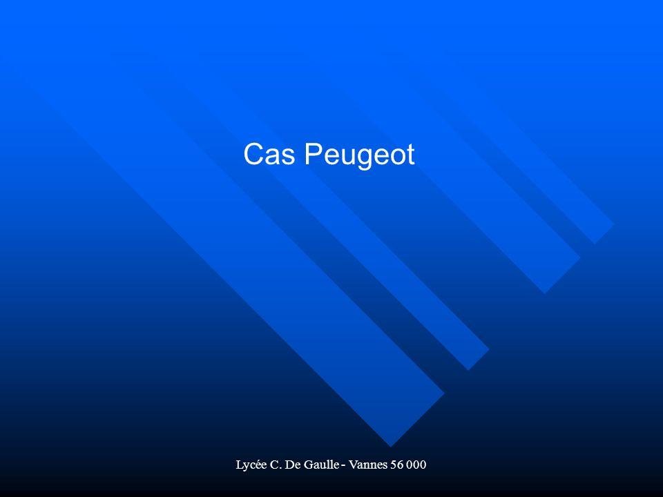 Lycée C. De Gaulle - Vannes 56 000 Cas Peugeot