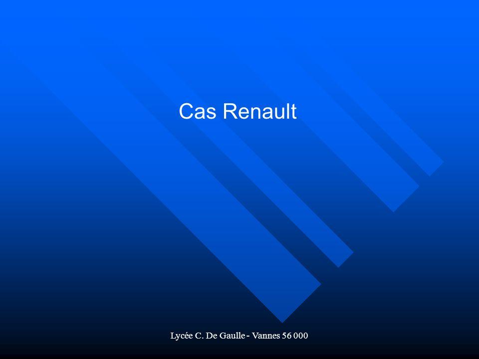 Lycée C. De Gaulle - Vannes 56 000 Cas Renault