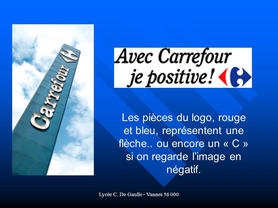 Lycée C.De Gaulle - Vannes 56 000 Les pièces du logo, rouge et bleu, représentent une flèche..