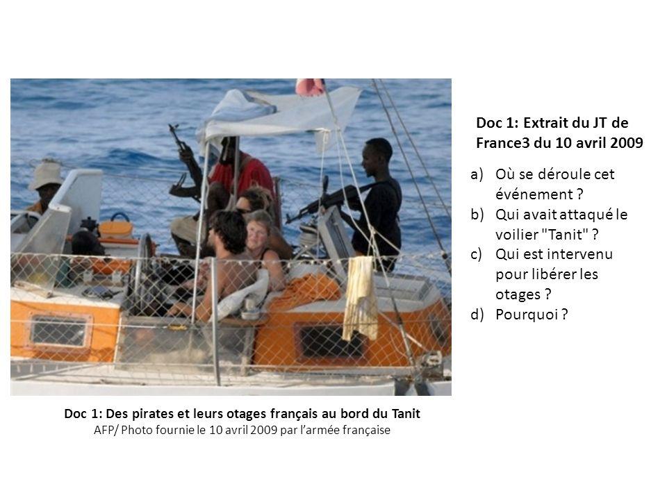 a)Où se déroule cet événement ? b)Qui avait attaqué le voilier