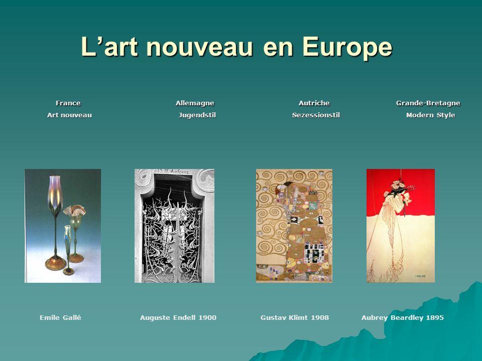 Lart nouveau en Europe Lart nouveau en Europe France Allemagne Autriche Grande-Bretagne France Allemagne Autriche Grande-Bretagne Art nouveau Jugendst