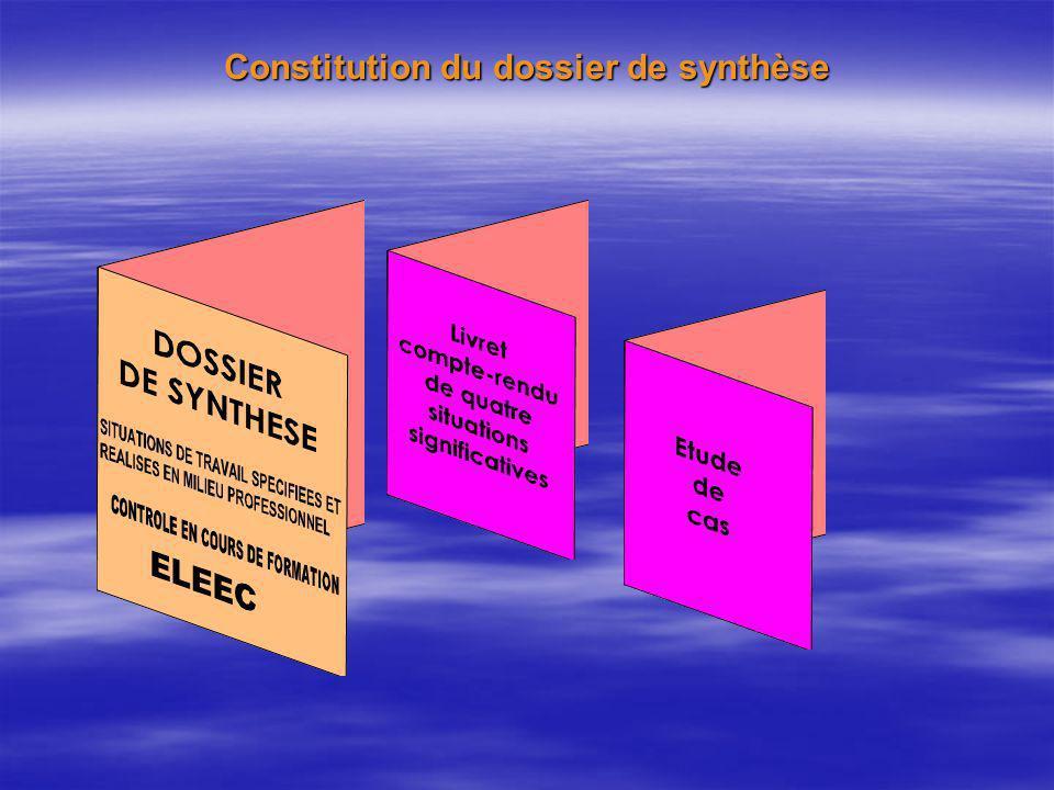 Constitution du dossier de synthèse