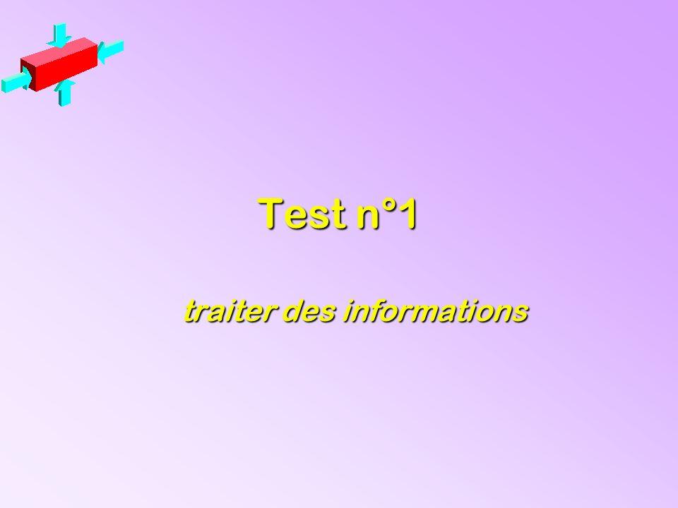 Test n°1 traiter des informations