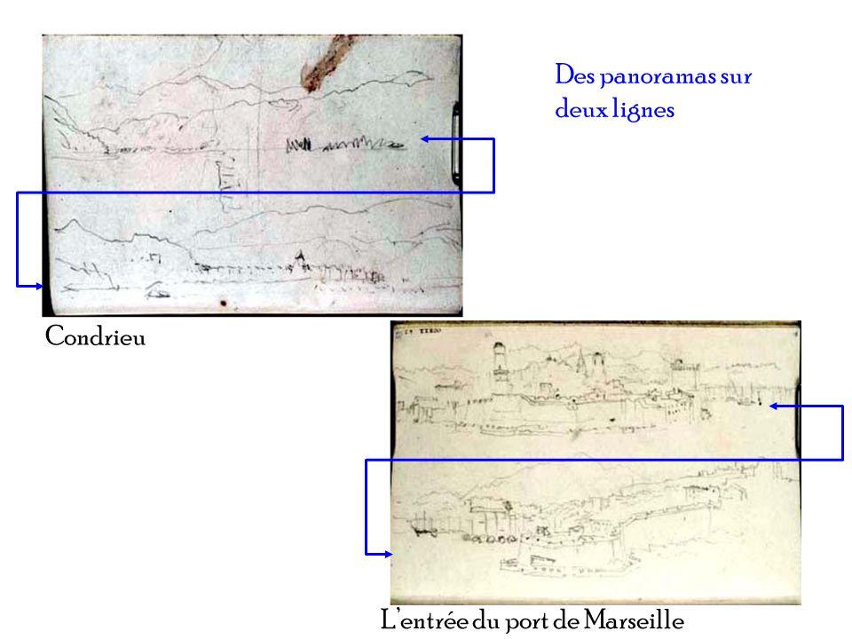 Des panoramas sur deux lignes Lentrée du port de Marseille Condrieu