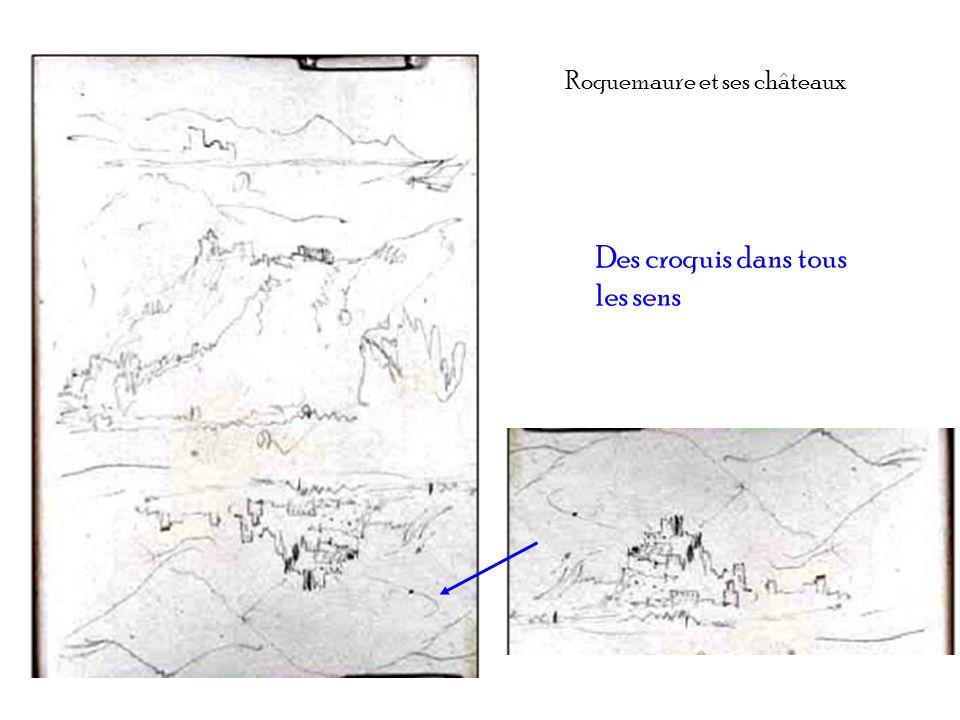 Roquemaure et ses châteaux Des croquis dans tous les sens