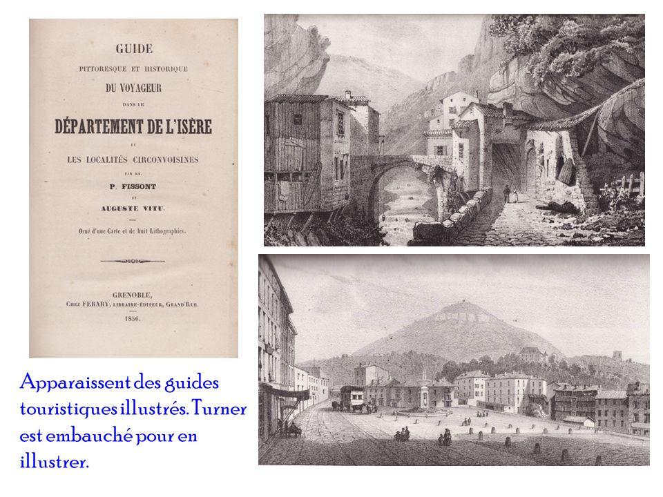 Apparaissent des guides touristiques illustrés. Turner est embauché pour en illustrer.