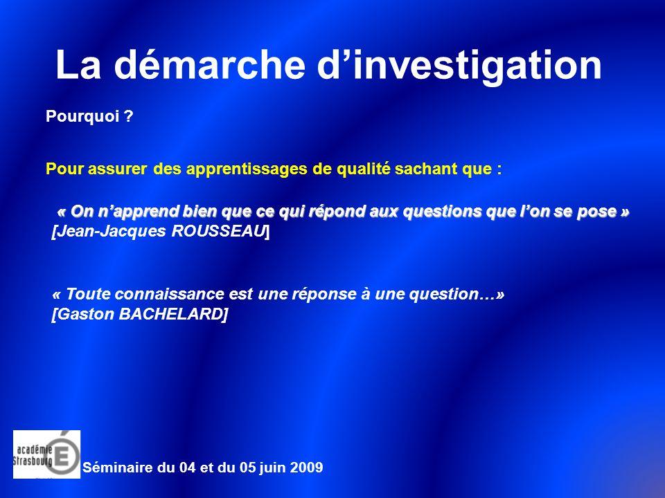 La démarche dinvestigation Une synthèse : Séminaire du 04 et du 05 juin 2009 Pont-poutre Problématique : Comment assurer la stabilité du tablier .
