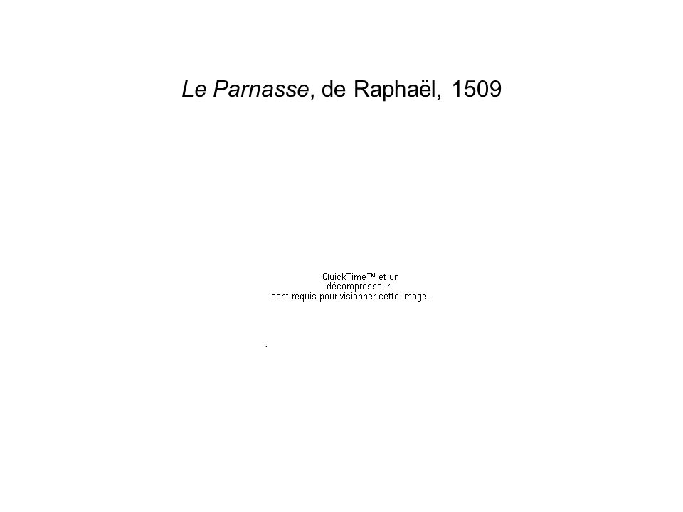 Le Parnasse, de Raphaël, 1509