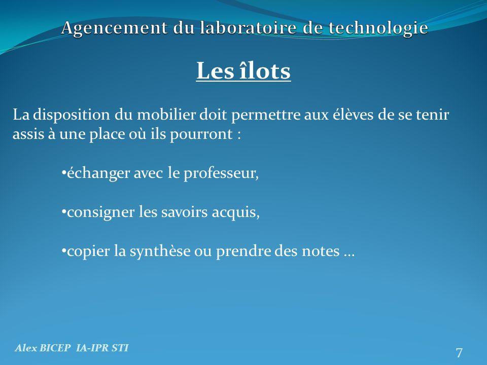 Alex BICEP IA-IPR STI 8 Un agencement et un équipement possibles