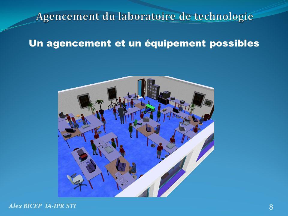 Alex BICEP IA-IPR STI 9 Un agencement et un équipement possibles