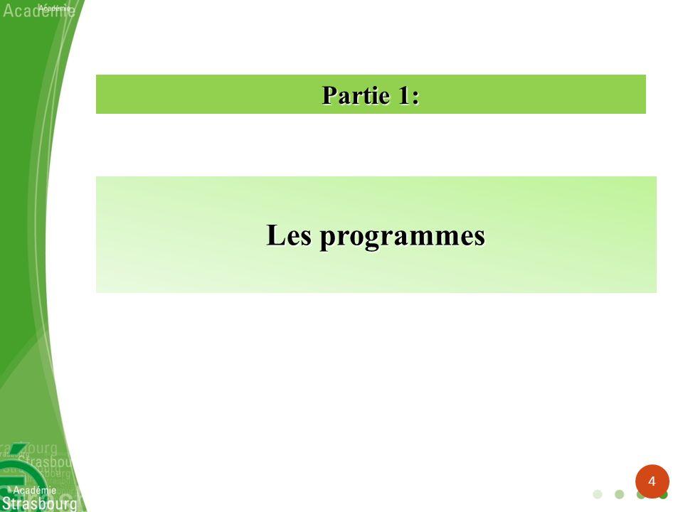 Les programmes Partie 1: 4