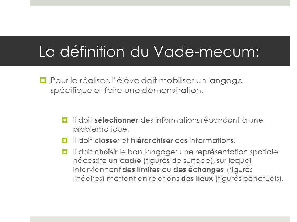 La définition du Vade-mecum: Le langage cartographique doit être un vecteur de la maîtrise de la langue française: les piliers 1 et 5 sont donc liés.