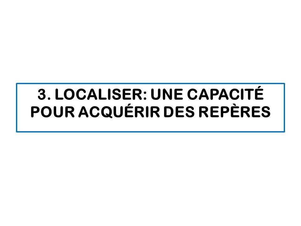 3. LOCALISER: UNE CAPACITÉ POUR ACQUÉRIR DES REPÈRES