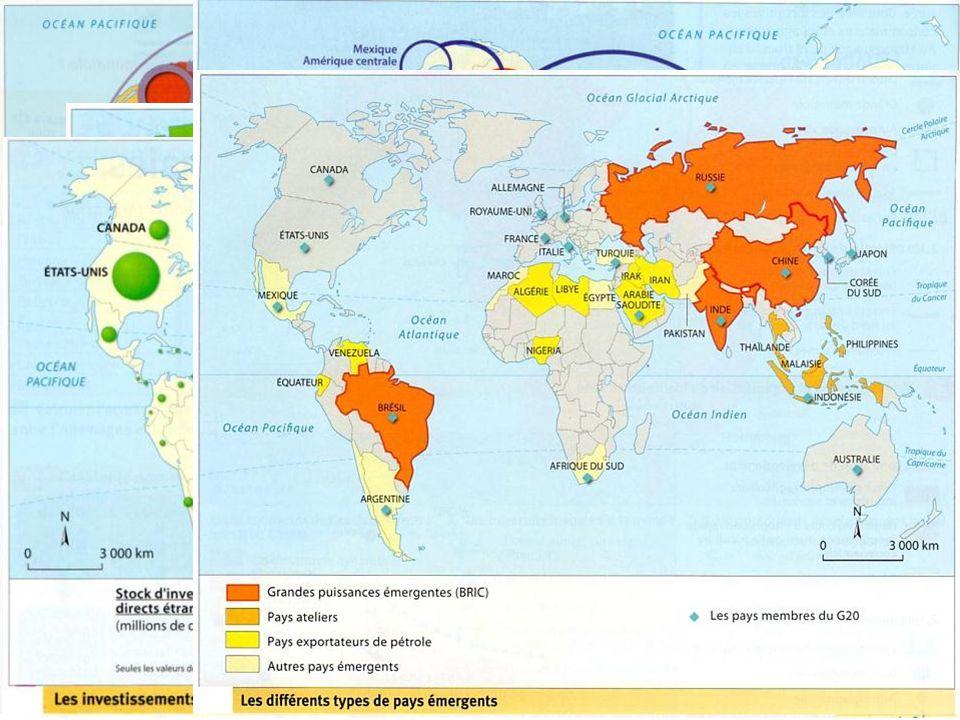 Exemples de cartes étudiées au cours de lannée