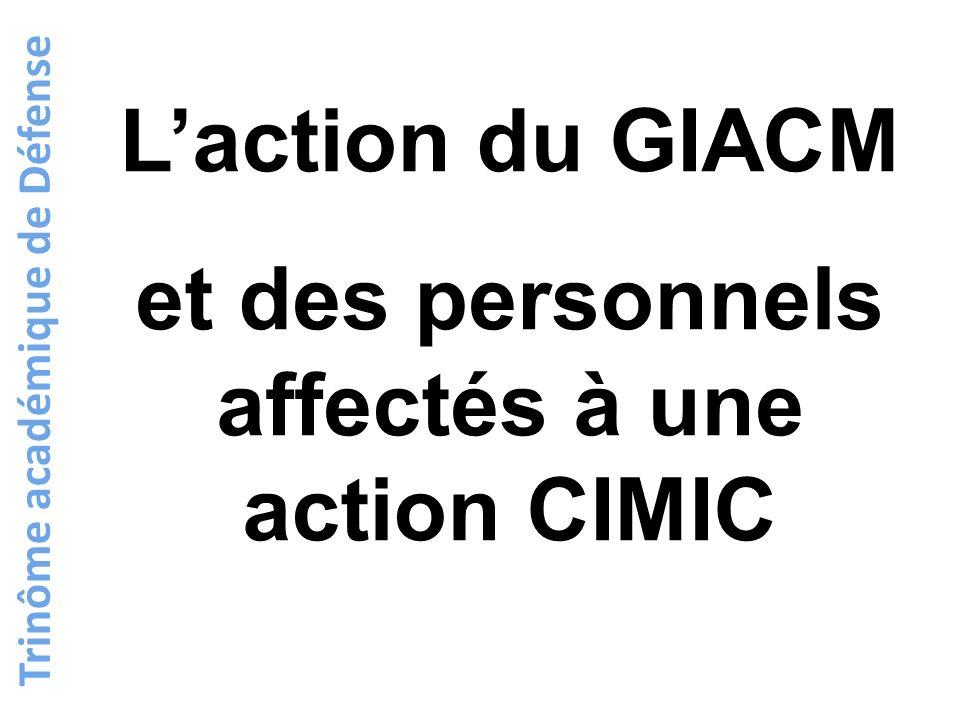 Trinôme académique de Défense Laction du GIACM et des personnels affectés à une action CIMIC