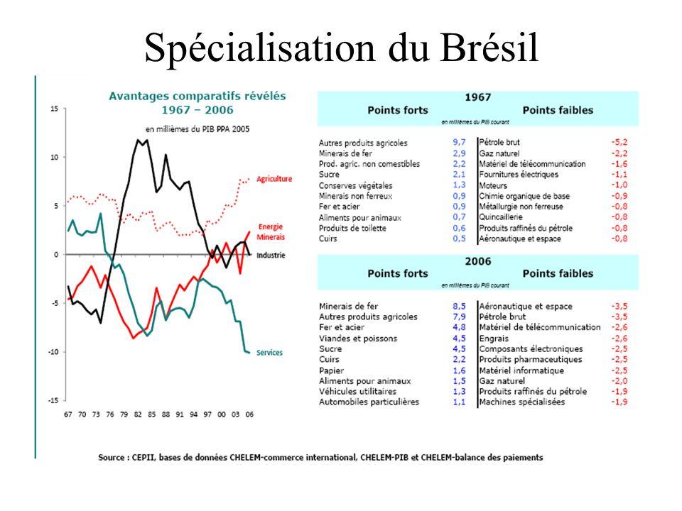 Spécialisation du Brésil