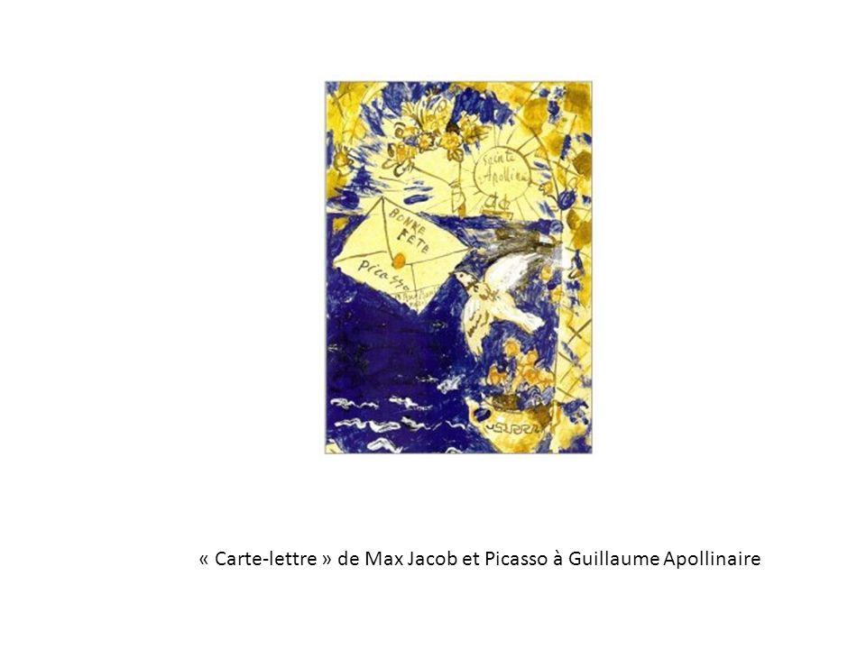 « Carte-lettre » de Max Jacob et Picasso à Guillaume Apollinaire