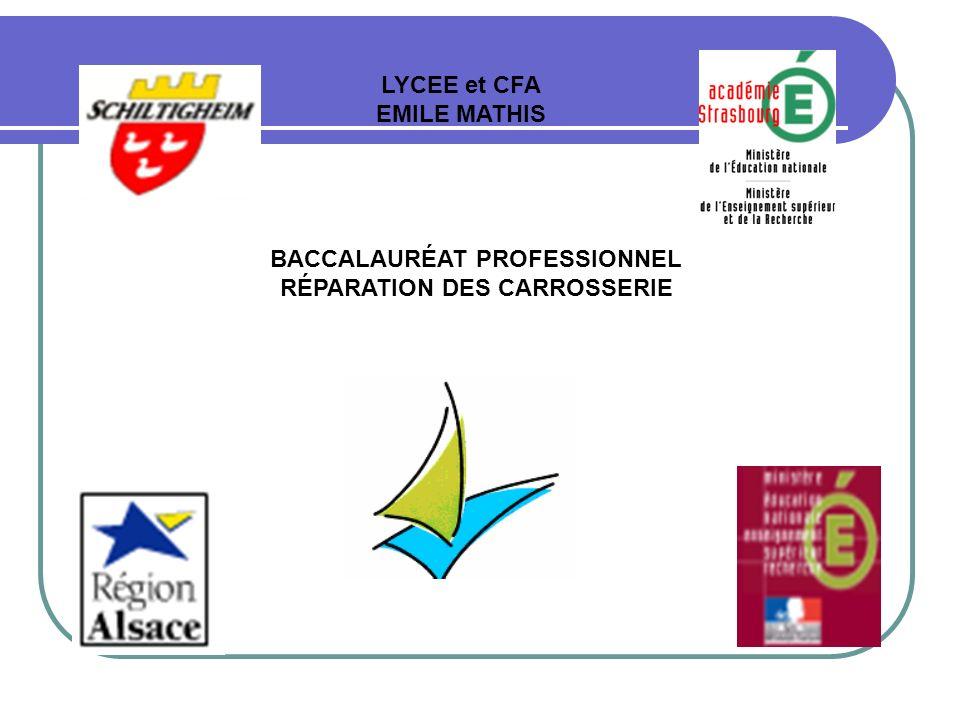 BACCALAURÉAT PROFESSIONNEL RÉPARATION DES CARROSSERIE LYCEE et CFA EMILE MATHIS