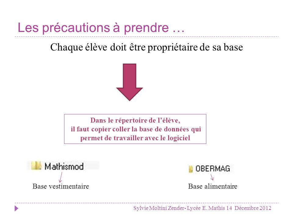 Comment intégrer une base dans le logiciel Sylvie Moltini Zender- Lycée E.