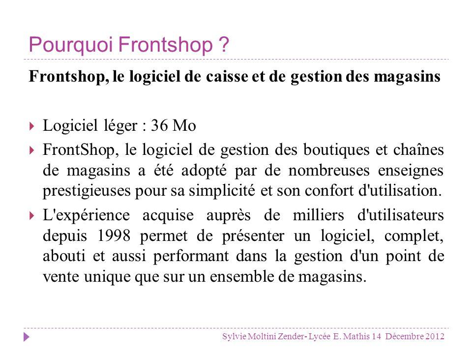 Les usages de Frontshop Sylvie Moltini Zender- Lycée E.