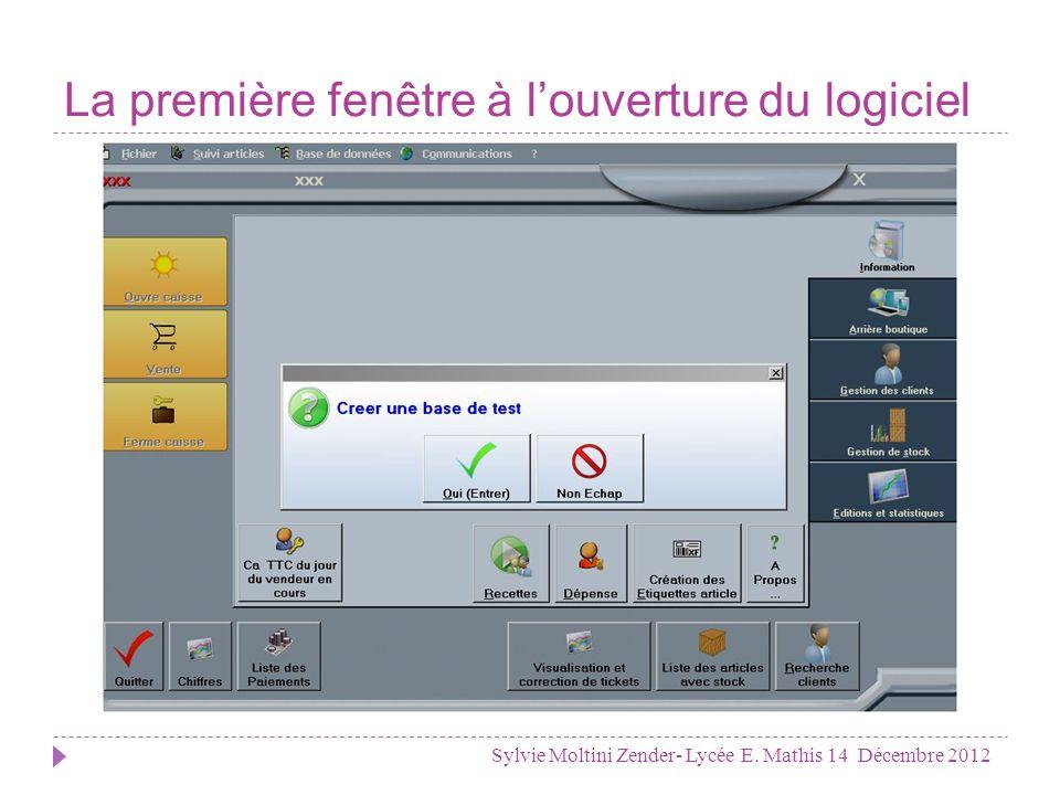 La base de données indispensable Sylvie Moltini Zender- Lycée E. Mathis 14 Décembre 2012
