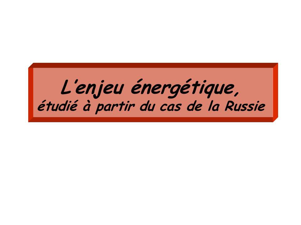 Lenjeu énergétique, étudié à partir du cas de la Russie