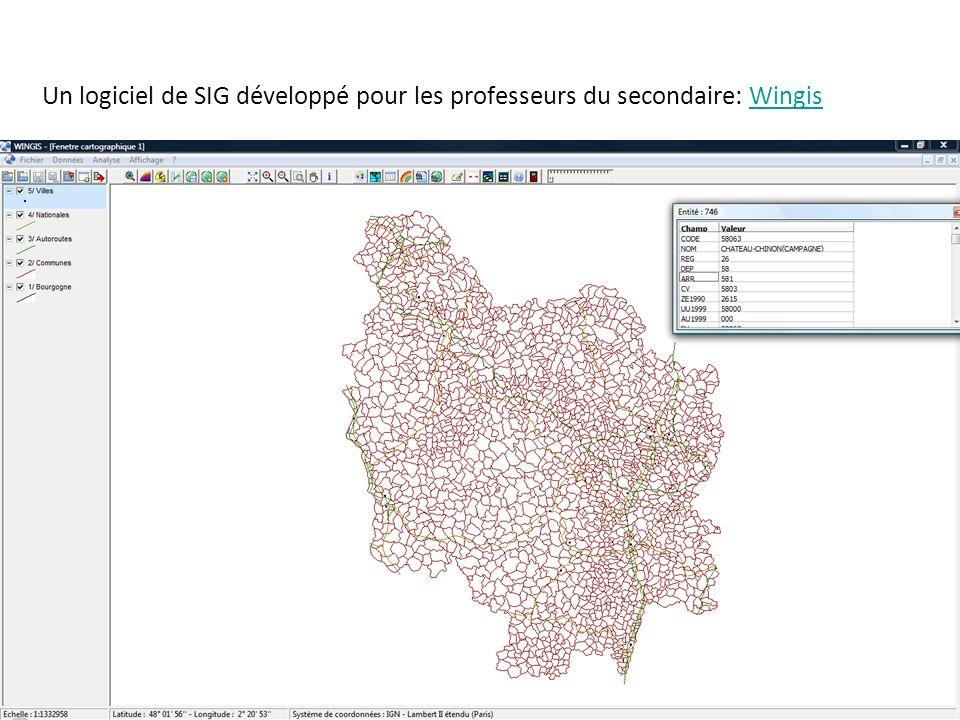 Un logiciel de SIG développé pour les professeurs du secondaire: WingisWingis