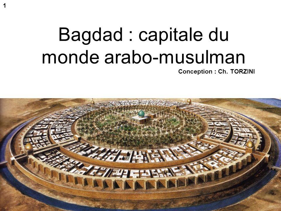 Evaluation possible (première partie) 1- Sur cette carte : -situe Bagdad - situe deux « régions » du monde qui font du commerce avec Bagdad - et pour chacune de ces régions indique deux marchandises quelles fournissent.