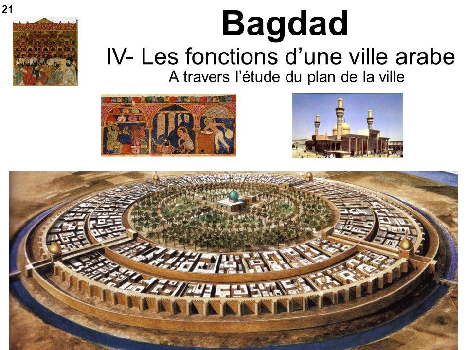 Bagdad A travers létude du plan de la ville IV- Les fonctions dune ville arabe 21