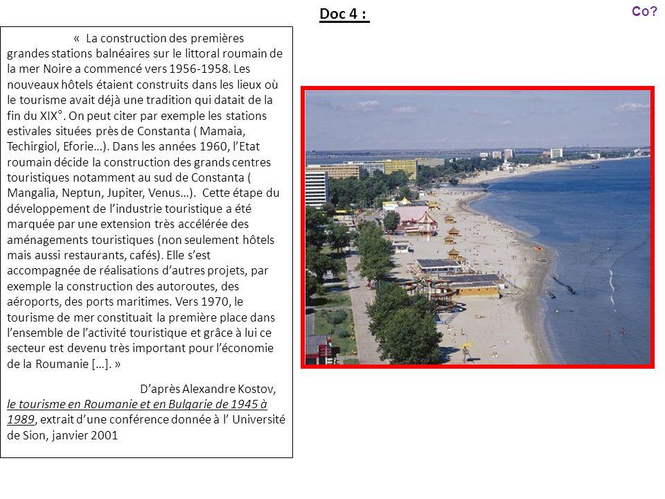 « La construction des premières grandes stations balnéaires sur le littoral roumain de la mer Noire a commencé vers 1956-1958. Les nouveaux hôtels éta