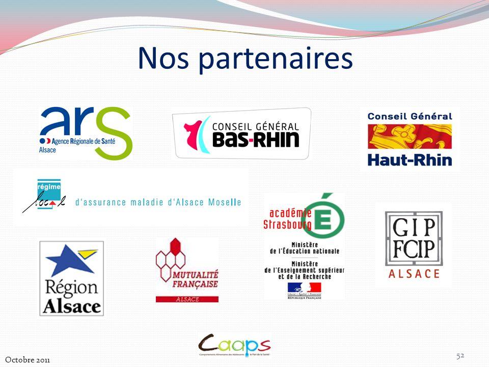 Nos partenaires 52 Octobre 2011