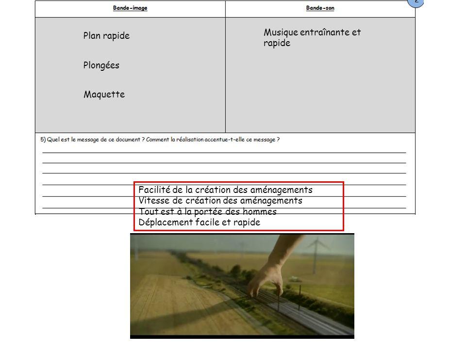 Une publicité qui montre les missions de RFF.Est-ce aussi simple daménager les espaces .