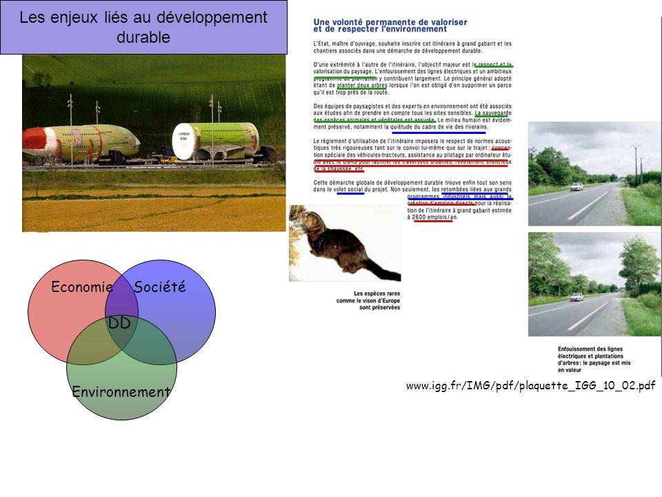 EconomieSociété Environnement Les enjeux liés au développement durable DD www.igg.fr/IMG/pdf/plaquette_IGG_10_02.pdf