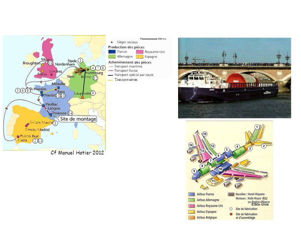 RU Etats-Unis Transport aérien 569 3 211 9 12 478 1510 13 14 1 Cf Manuel Hatier 2012