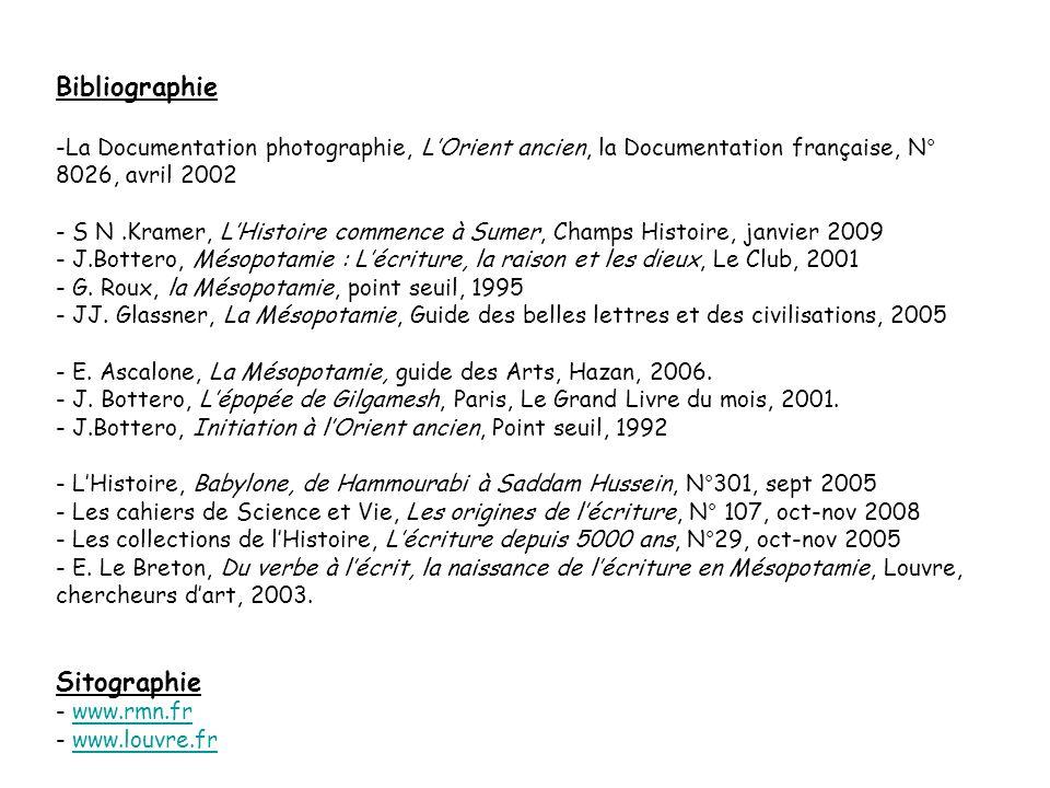 Bibliographie -La Documentation photographie, LOrient ancien, la Documentation française, N° 8026, avril 2002 - S N.Kramer, LHistoire commence à Sumer